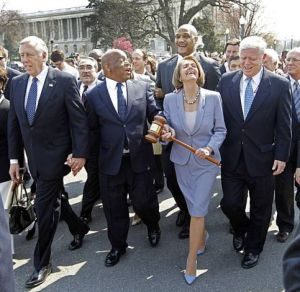 pelosi laugh pic cuts out demonstrators