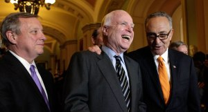 durbin_mccain_schumer laughing at 80% of America