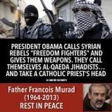 obama arms alQada and the behead priest