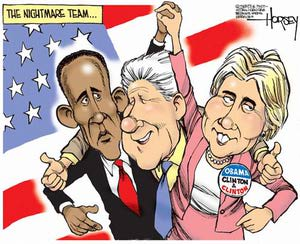 hillary bill obama cartoon